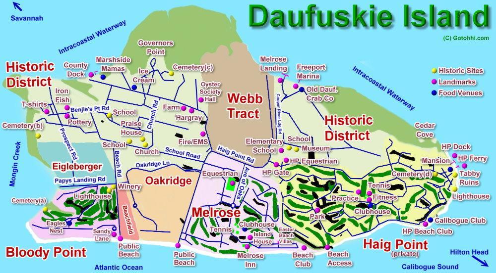 Daufuskie Island Interactive Map Hilton Head Island